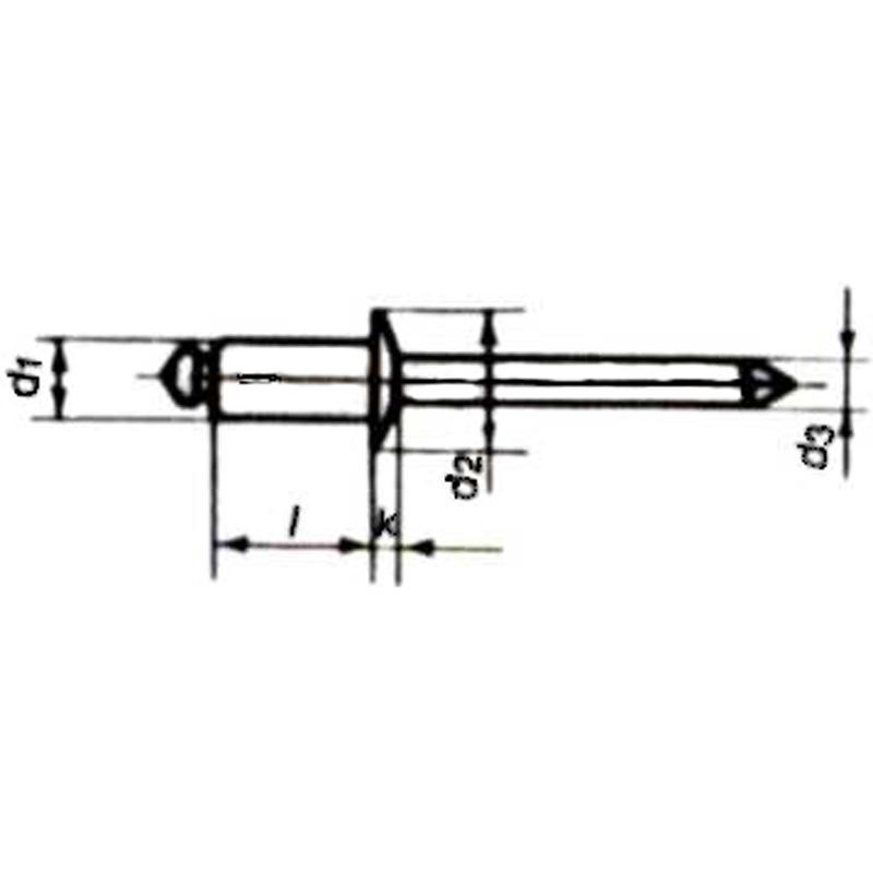 Bundgennemføring med si rustfri stål AISI 316