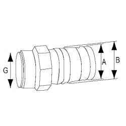 Polyform fender G-serie blå