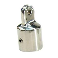 Kalechebeslag top i rustfrit stål 25mm - 1