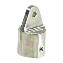 Kalechebeslag top i rustfrit stål 25mm ekstra kraftig model - 1