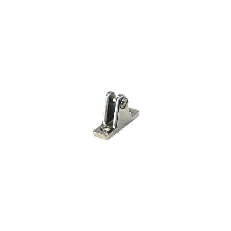 Kalechebeslag dæk med vinkel i rustfrit stål - 1