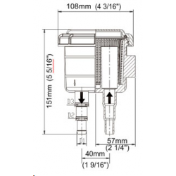 Zinkanode for drev, gearhus og øverste tap. Type SD20, SD30.