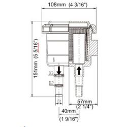 Zinkanode for drev. Type SD20, SD30 zinkring prop.