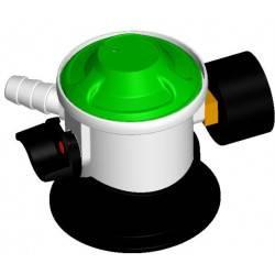 Gas regulator Jumbo click on med manometer og slangestuds