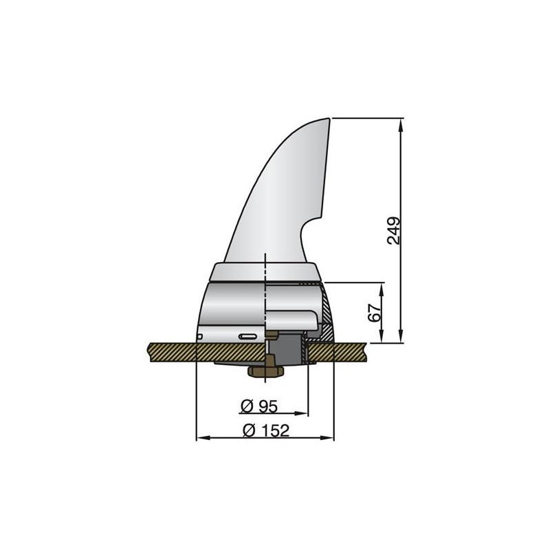 VHF Stålpiskantenne
