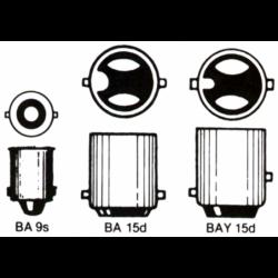 Lampe med bajonetsokkel 12V - 2