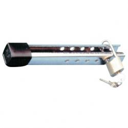 Motorlås i rustfrit stål med hængelås - 1