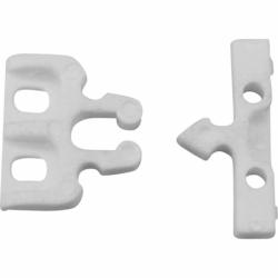 Snaplås i hvid nylon - 1
