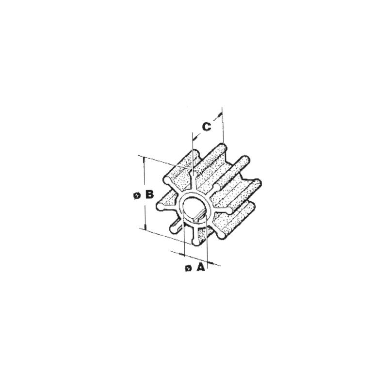 Impel Johnson/Evinrude 4/5 HK - 1