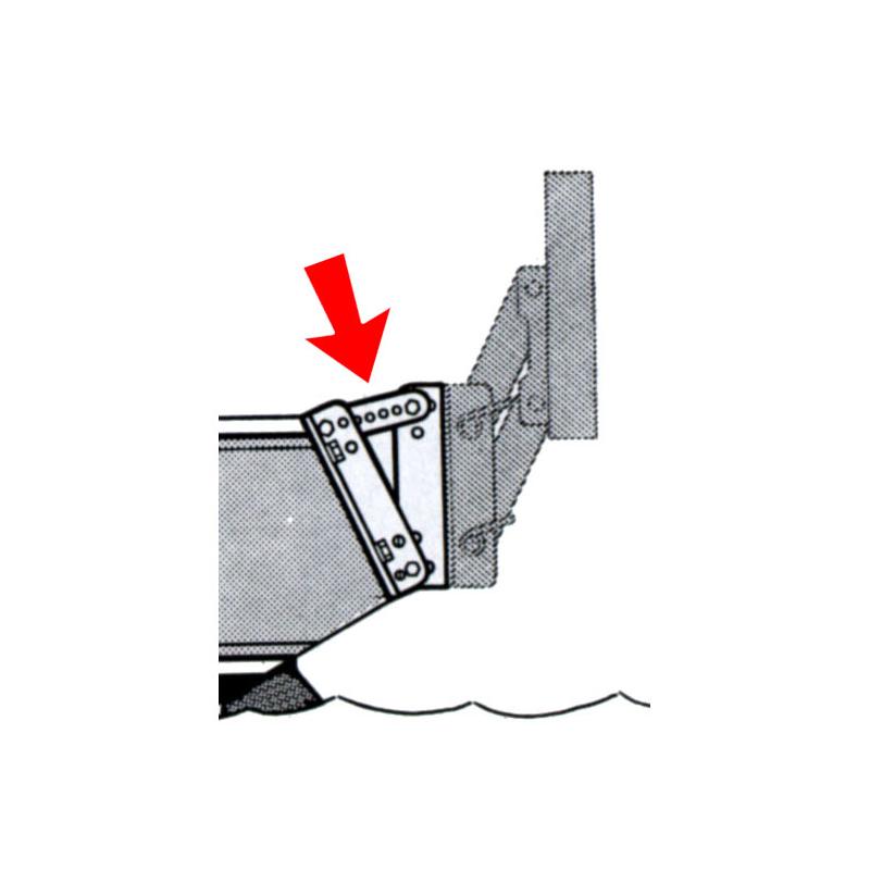 Vinkelbeslag til hævebeslag - 1