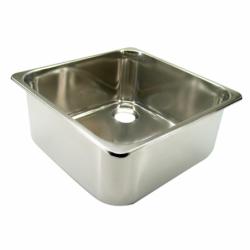 Rektangulær vask i rustfrit stål - 1