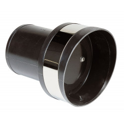 VETUS plastic transom exhaust connection with check valve, 152 mm