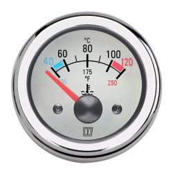 VETUS water temperature gauge, white, 12 Volt, cut-out size 52mm