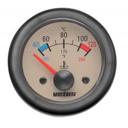 VETUS water temperature gauge, cream, 24 Volt, cut-out size 52mm