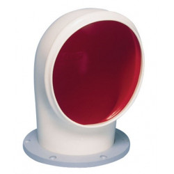 VETUS cowl ventilator TOM S, 100 mm, white PVC, red interior