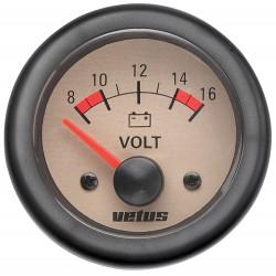 VETUS voltmeter, cream, 12 V (8-16 V), cut-out size 52mm