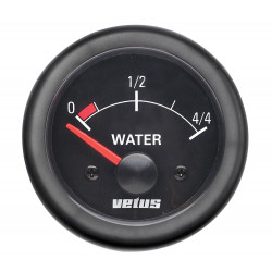 VETUS water level indicator, black, 12 Volt, cut-out size 52mm