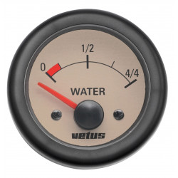 VETUS water level indicator, cream, 24 Volt, cut-out size 52mm
