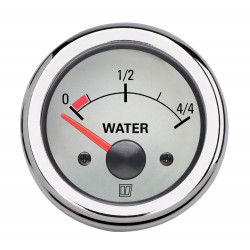 VETUS water level indicator, white, 24 Volt, cut-out size 52mm
