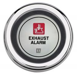 VETUS exhaust temperature alarm, black, 24 Volt, cut-out size 52mm