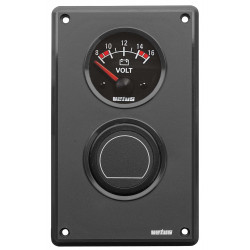 VETUS extension panel for 2 instruments with cut-out size 52mm