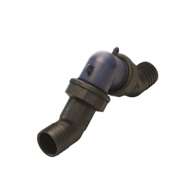 Plastic in-line non-return valve