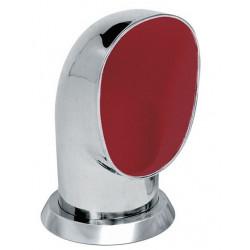 VETUS cowl ventilator YOGI, 125 mm, SS 316, red interior
