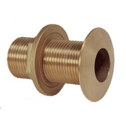 "Bronze thru-hull fitting, G1 ½"" bronze, chamfered - 1"