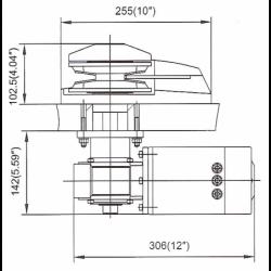 Ankerspil 12V 1200W - 2