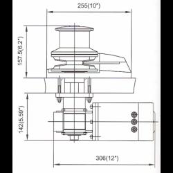 Ankerspil 12V 1500W Tovtromle - 2
