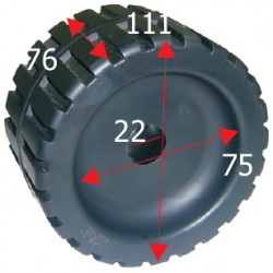 Siderulle bredde 125 mm