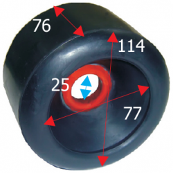 Siderulle bredde 114 mm