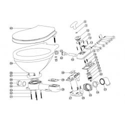 Repairkits til Nuova Rade manuelt toilet - 1