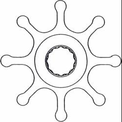 Impel til Sole Diesel, neopren - 1
