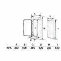 Reduktionsmuffe rustfri stål AISI 316