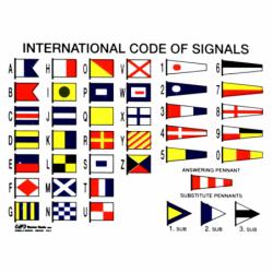 Selvklæbende tavle med signalflag - 1