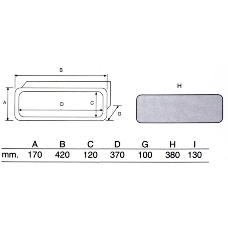 Tankpåfyldning til ferskvand rustfri stål AISI 316