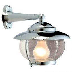 Væglampe i forkromet messing - 1
