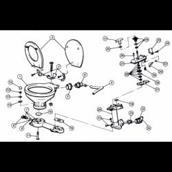 Toiletsæde, standard for Jabsco manuelt toilet - 1