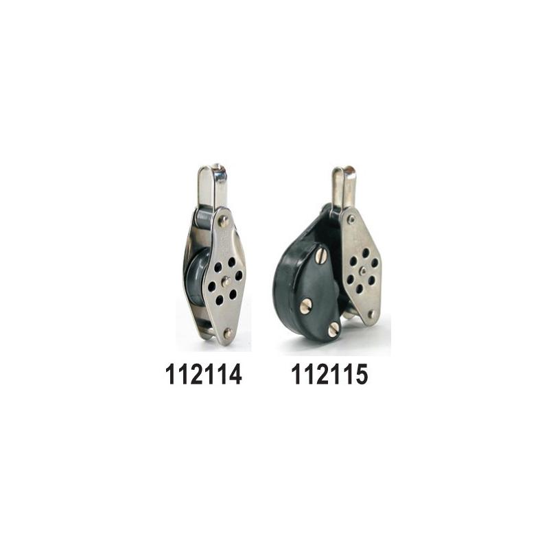 Lille blok i rustfrit stål med fjederbelastet lås - 1