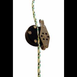 Lille blok i rustfrit stål med fjederbelastet lås - 2