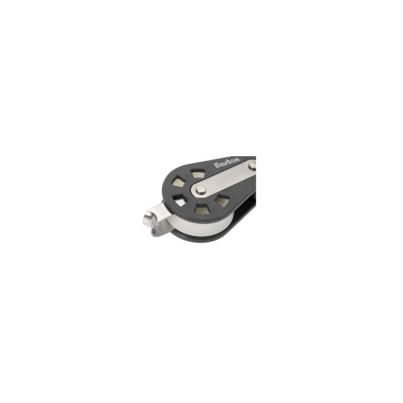 Enkelt kugleleje blok med svirvel & hundsvot - 1