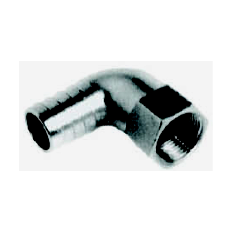 Slangetilslutning 90°  i rutsfrit stål AISI 316 - 1