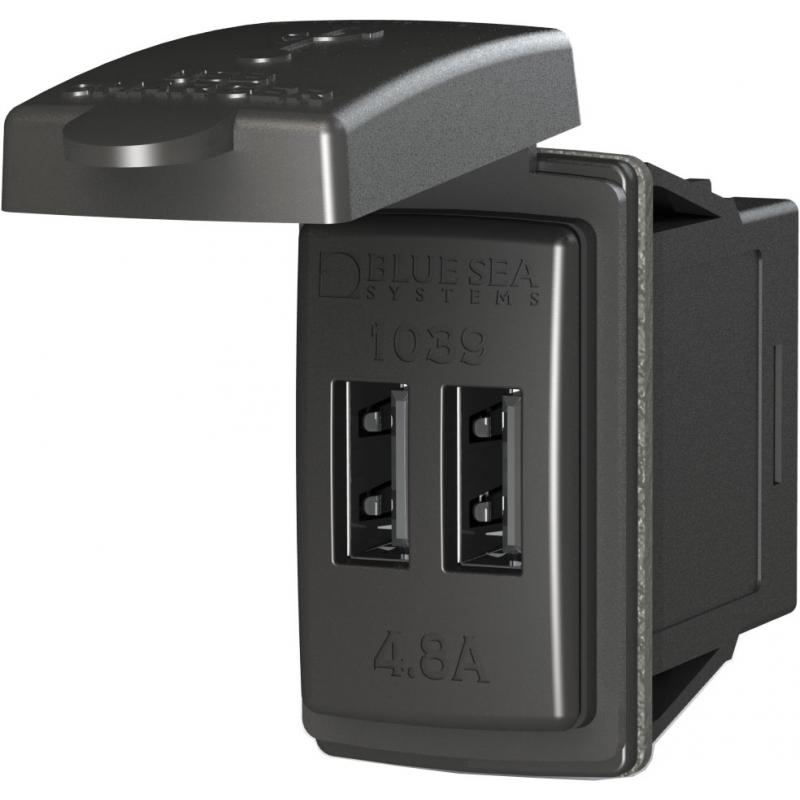 Dual USB lader kontakt eller sokkel - 1