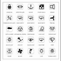 Selvklæbende symboler - 1
