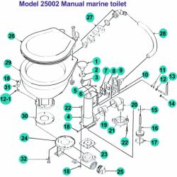 Diverse reservedele til manuelt marineworldtoilet - 2